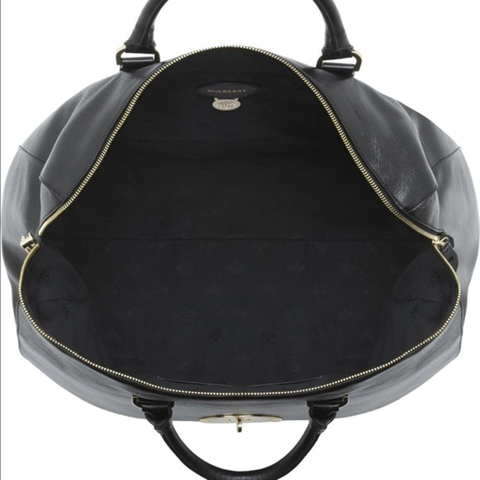 1c2688b24a5 Mulberry Oversized Del Rey Satchel Black Leather Weekend/Travel Bag ...