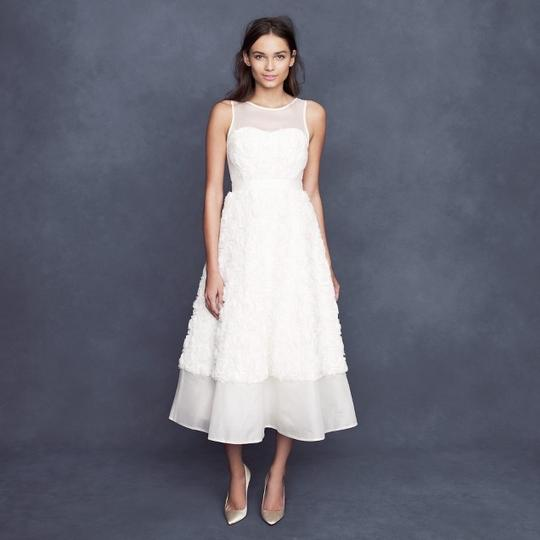 J.Crew Ivory Rosebloom Tea-length Vintage Wedding Dress