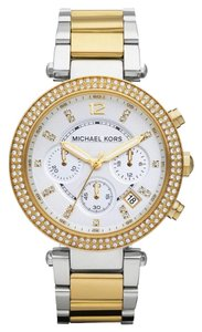 Michael Kors NWOT MICHAEL KORS Chronograph Parker Two Tone Watch MK5626