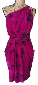 Rebecca Taylor Silk Tie Dye Grecian One Elastic Dress