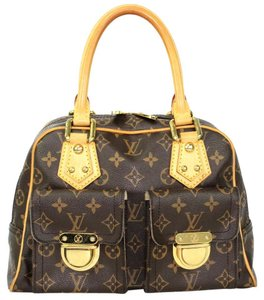 Louis Vuitton Manhatten Manhattan Monogram Canvas Satchel in Brown