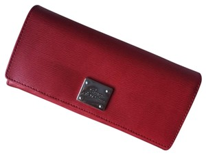 Ralph Lauren Ralph Lauren Red Leather Continental Wallet