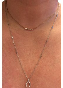 Other Double Strand Wishbone Bezel Crystal Necklace