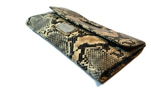 Nine West Python Faux Leather Snake Print Clutch