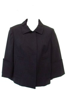 Carlisle Wool Blend 3/4 Sleeve Black Jacket