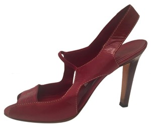 Manolo Blahnik Slingback dark red Sandals