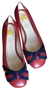 Gucci Hibiscus Red Flats