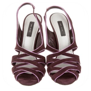 Marc Jacobs Purple suede with pink patent trim Sandals