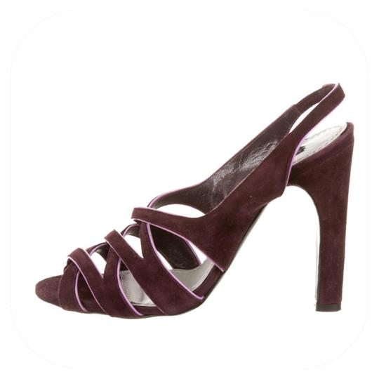 Marc Jacobs Purple suede with pink patent trim Sandals Image 1