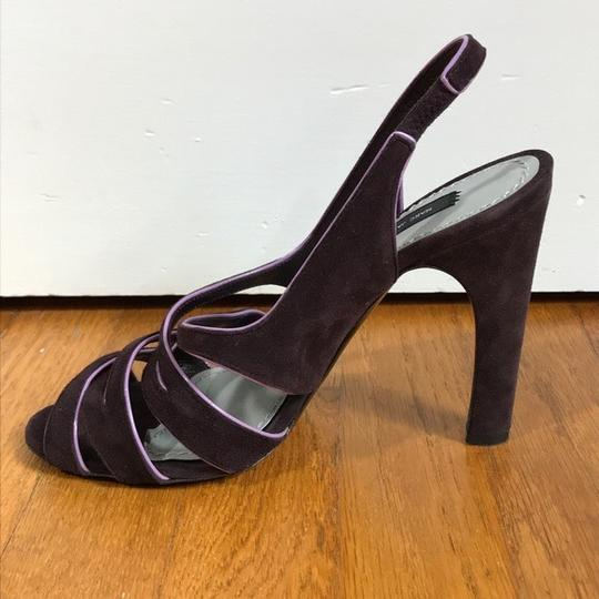 Marc Jacobs Purple suede with pink patent trim Sandals Image 10