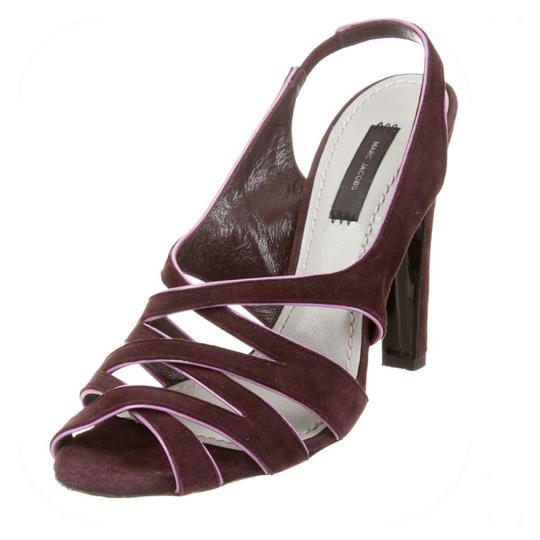 Marc Jacobs Purple suede with pink patent trim Sandals Image 2