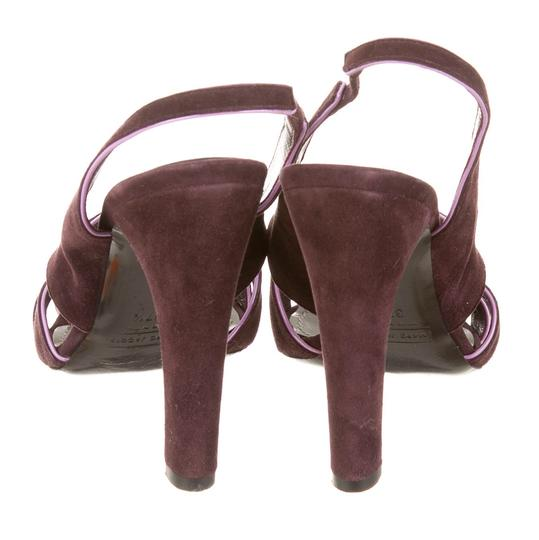 Marc Jacobs Purple suede with pink patent trim Sandals Image 3
