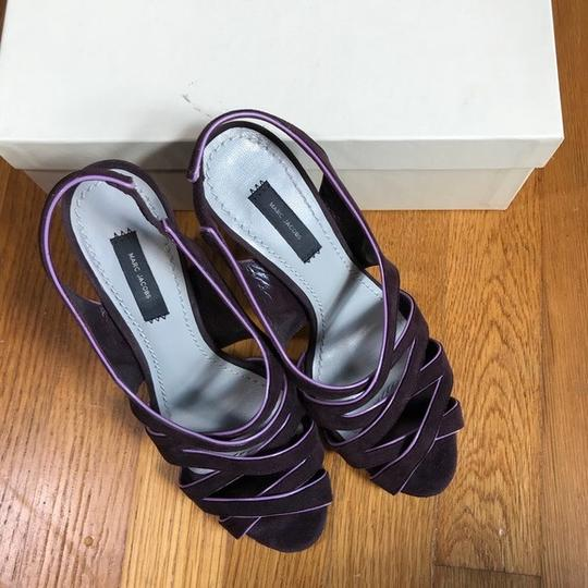 Marc Jacobs Purple suede with pink patent trim Sandals Image 6