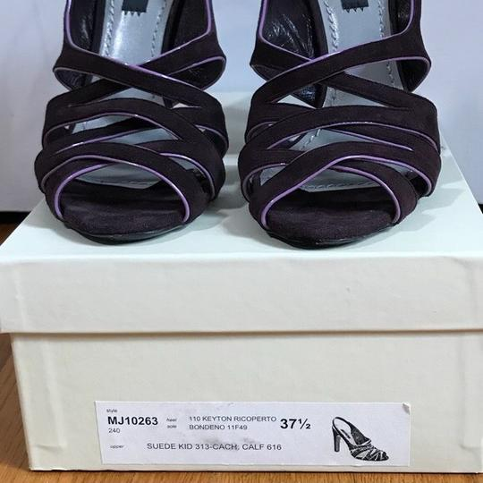 Marc Jacobs Purple suede with pink patent trim Sandals Image 8