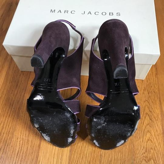 Marc Jacobs Purple suede with pink patent trim Sandals Image 9
