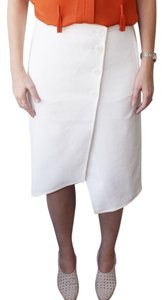 Tibi Asymmetrical Skirt White