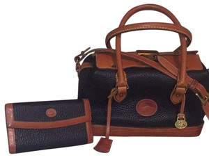 Dooney & Bourke Satchel in Black/ Brown