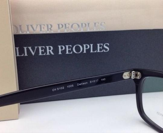 Oliver Peoples New OLIVER PEOPLES Eyeglasses DENISON OV 5102 1005 51-17 Black Frame Image 4