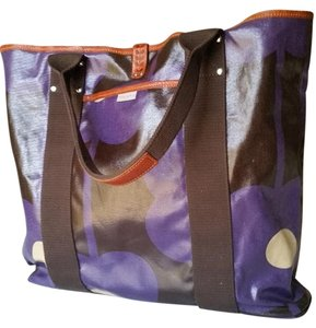Orla Kiely Tote in brown/purple