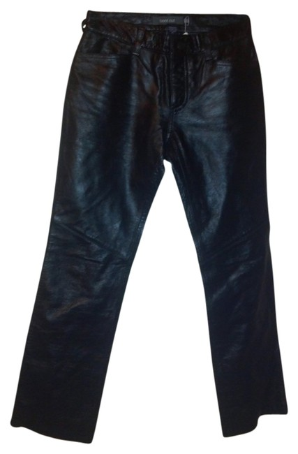 Gap Leather Boot Cut Pants Black