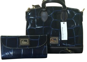 Dooney & Bourke & Matching Wallet And Mini Set Satchel in Navy
