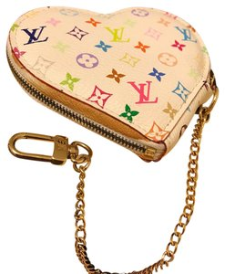 Louis Vuitton Multi Color Coin Bag In Heart Shape