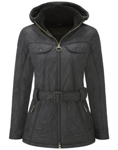 Barbour Quilted Tied Quilt Hooded Raincoat