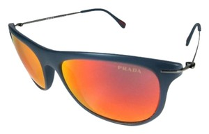 Prada Glam - Blue & Mirrored, Sunglasses Unisex