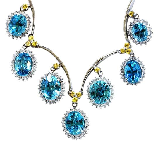Preload https://img-static.tradesy.com/item/20192920/blue-3966ct-natural-zicron-14k-white-gold-necklace-0-1-540-540.jpg