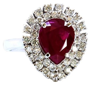 Dignity Jewels GIA 2.53CT NATURAL RUBY 18K WHITE GOLD RING