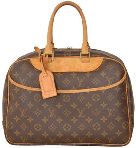 Louis Vuitton Monogram Deauville Satchel in Brown
