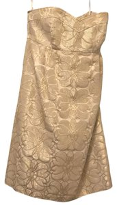 Shoshanna short dress Gold on Tradesy