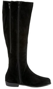 Aerosoles Flat Suede Casual Boot Wedge Black Boots