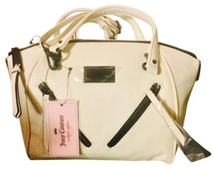 Juicy Couture Satchel in White/black