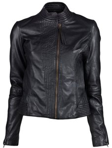 Improvd Quilted Seamed Tailored Leather Jacket