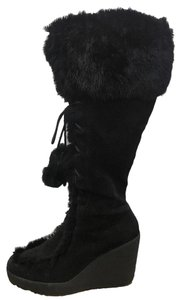 Naughty Monkey Wedges Black Boots