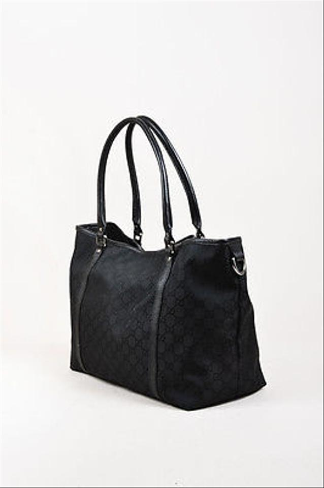 gucci nylon leather gg imprime joy black tote bag totes on sale. Black Bedroom Furniture Sets. Home Design Ideas