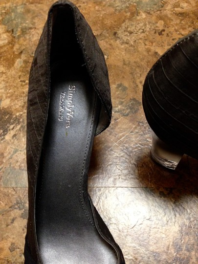 Simply Vera Vera Wang Never Worn Bow Clear Chunky Charcoal Pumps Image 9