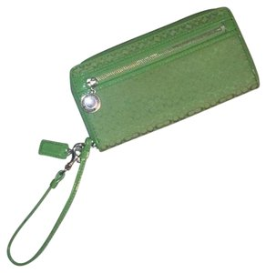 Coach Authentic Coach Wallet, Wristlet In Gorgeous Green