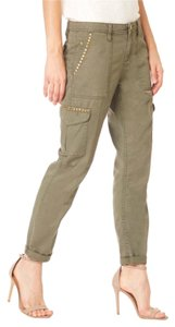 Sanctuary Clothing Studded Cargo Relaxed Cargo Pants Military Green