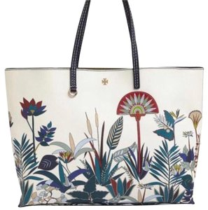 Tory Burch Tote in Ivory Utopia