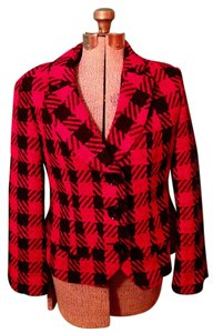Coldwater Creek Cold Water Polyester Red black Blazer