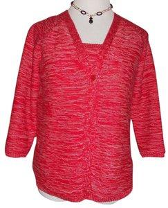 Dana Buchman Top Knitted Red