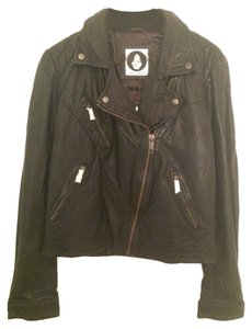 Volcom Leather Faux Leather black Leather Jacket