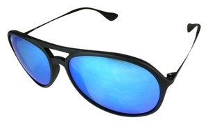 Ray-Ban Aviator - Matte Black & Mirrored Sunglasses Unisex