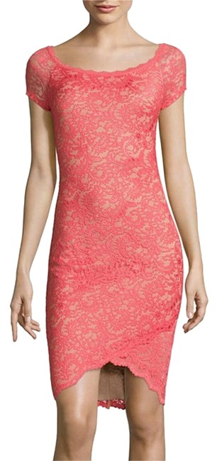 Preload https://img-static.tradesy.com/item/20193689/bisou-bisou-corallight-nude-knee-length-night-out-dress-size-16-xl-plus-0x-0-1-650-650.jpg