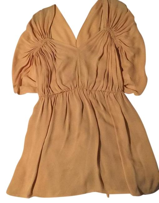 Preload https://img-static.tradesy.com/item/20193701/halston-goldyellow-mini-cocktail-dress-size-2-xs-0-1-650-650.jpg