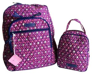 Vera Bradley Cotton Printed Campus Lunchbag Backpack