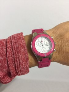 Michele Michele Watch in Pink and Silver