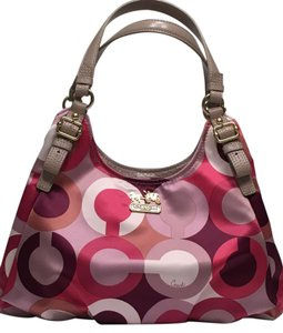 Coach Madison Gold Hardware Spring Summer Satchel in Multi